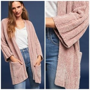 NWT🌸Anthropologie Chenille Cardigan by Moth Nude